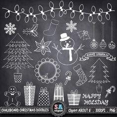 Chalkboard decoration Christmas
