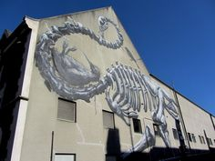 Cool street art in Christchurch