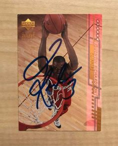 QUENTIN RICHARDSON LOS ANGELES CLIPPERS SIGNED 01-02 UPPER DECK CARD #304 W/COA  #UpperDeck