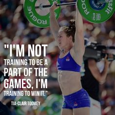 """After two years of silver, Tia Toomey has the confidence to win gold. Read """"Sick of Silver: Tia-Clair Toomey Wants to Win,"""" by Brittney Saline at Games.CrossFit.com."""