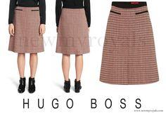 HUGO BOSS Rinelle Cotton A-Line Skirt…