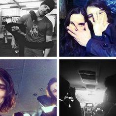 Zoey Deutch & Danila Kozlovsky during filming of VA: Blood Sisters.
