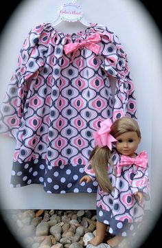 Girl's Boutique Peasant Dress  Matching Doll by KinleasKloset, $40.00  www.kinleaskloset.etsy.com