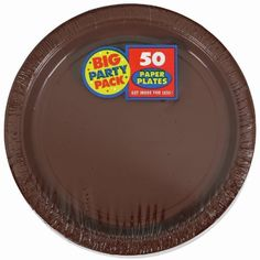 Amscan Chocolate Brown Big Party Pack Dinner Plates (50) by Amscan. $9.60. Includes (60) paper dinner plates.. Save 52% Off!