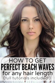 Whether you have long hair, short hair, or medium-length hair, this collection of tutorials will teach you how to get perfect beach waves!