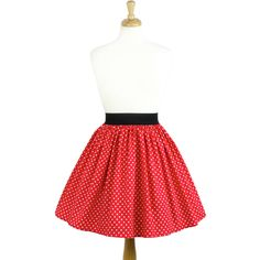 Dapper Day Minnie Mouse Red Red and White Polkadots Pleated Retro... ($40) ❤ liked on Polyvore featuring skirts, light pink, women's clothing, red pleated skirt, light pink skirt, red dot skirt, stretch skirts and polka dot skirt