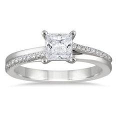 https://ariani-shop.com/7-8-carat-princess-diamond-engagement-ring-in-14k-white-gold 7/8 Carat Princess Diamond Engagement Ring in 14K White Gold