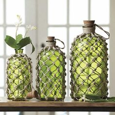 Jute Knotted Bottles