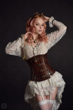 gorgeoussss.. love love lace and leather - Add a corset... best