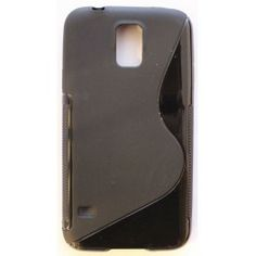 Galaxy S5 musta silikonisuojus.