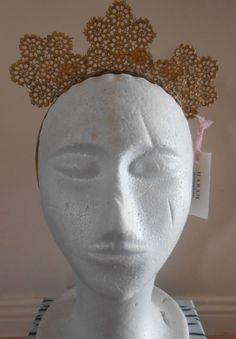 HARAH DESIGNS TRIGOLD CROWN Designer Dresses, Crown, Sculpture, Statue, Art, Art Background, Designer Gowns, Corona, Kunst