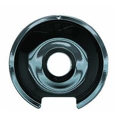 """6"""" GE/Hotpoint Reflector Drip Pan in Black by Range Kleen. $6.13. P105 Features: -Reflector drip pan.-Porcelain material.-Fits most GE and Hotpoint ranges with hinged elements. Color/Finish: -Black color. Dimensions: -Overall dimensions: 6'' W x 6'' D."""
