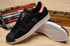 save off 8a29a 76928 Come to browse Unisex Adidas Superstar 80s W Black Pink White Running Shoes  For Sale at