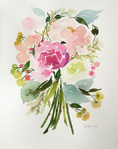 In addition to our online retail shop and design studio, Yao also creates painted commissions for our customers & clients! For those of you who are interested in a custom, original watercolor piece that perfectly encapsulates your style and color scheme, memories, feelings – everything