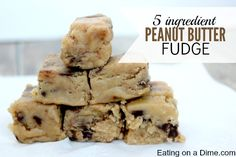 5 Ingredient Peanut Butter Fudge Recipe - Eating on a Dime