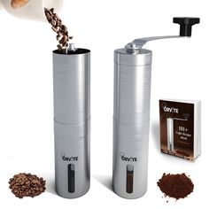 Orvite Ceramic Burr Manual Coffee Grinder - Portable Stainless Steel Conical Coffee Mill with Hand Crank - Aeropress and Espresso Compatible -- To view further for this item, visit the image link. Coffee And Espresso Maker, Pour Over Coffee, Coffee Shop, Coffee Maker, Coffee Machine, Hand Crank Coffee Grinder, Manual Coffee Grinder, Coffee Grinders, Coffee Drinks