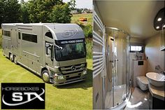 Horse Trailers- (w/ living quarters) it would be amazing to travel in one of these with my mare. Luxury!