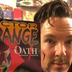 Benedict Cumberbatch goes to comic book store in Doctor Strange costume http://shot.ht/1TusTRY @EW