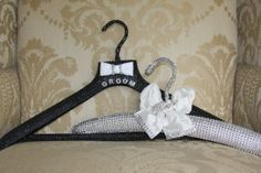 personalized Bride and groom hangers perfect by TheCrystalFlower, $175.00
