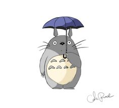 ***copy right Miyazaki.and disney? Totoro in the Rain Ghibli Tattoo, Totoro Umbrella, Totoro Drawing, Cartoon Theories, Cartoon Fan, Ghibli Movies, My Neighbor Totoro, Hayao Miyazaki, Cat Tattoo