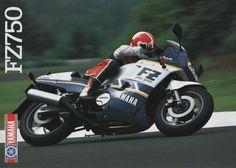 Yamaha FZ750 (1987) ad.