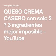 Queso Fresco, Tasty, Recipes, Youtube, Spices, Steak Marinades, Sour Cream, 3 Ingredients, Spice