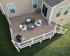 Trex Enhance Naturals 1 in. x in x 16 ft. Rocky Harbor Grooved Edge Capped Composite Decking - The Home Depot Composite Deck Railing, Trex Decking, Curved Decking, Decking Ideas, Patio Ideas, Outdoor Ideas, Backyard Ideas, Home Depot, Hidden Deck Fasteners
