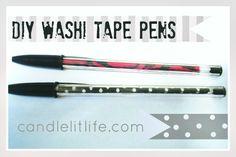DIY Washi Tape Pens