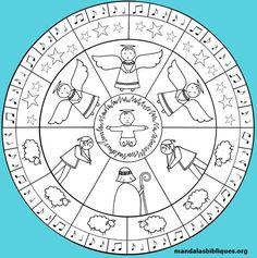 Un mandala pour le temps de Noël, inspiré de l'évangile de Luc #mandala