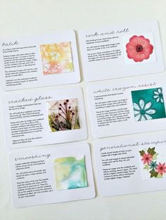 Stamping Technique Cards by Heather Nichols for Papertrey Ink (October 2015)