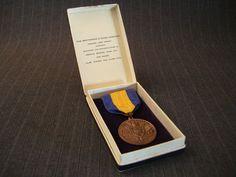 Ladies Auxiliary VFW Medal with Ribbon [Vintage] by MaGriffeBoutique on Etsy