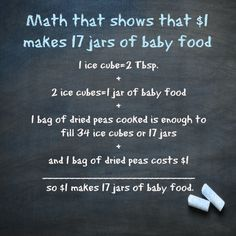 Baby food doesn't have to be expensive. Making your own baby food is simple and can save you 88%!! Learn how $1 can yield 17 jars of baby food.
