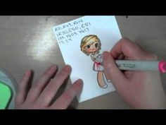 Coloring clothes with pleats and folds with Copic markers - YouTube