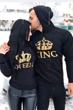 Graphic Sweatshirt, King, Queen, Sweatshirts, Sports, Sweaters, Fashion, Moda, La Mode