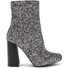 Jeffrey Campbell Stratford 3 Booties ($165) ❤ liked on Polyvore featuring shoes, boots, ankle booties, booties, side zipper boots, high heel ankle booties, glitter boots, fake boots and high heel booties