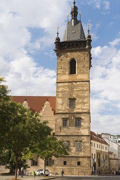 Prague Czech Republic - New town hall Novomestska radnice  - Click here to buy a poster, art print or canvas print: http://matthias-hauser.artistwebsites.com/featured/new-town-hall-novomestska-radnice-prague-matthias-hauser.html 30 days money back guarantee. (c) Matthias Hauser hauserfoto.com #Prag #Praha