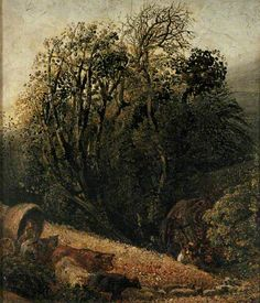 A Cornfield bordered by Trees. Samuel Palmer