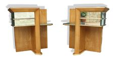 Rare Pair of Modernist Art Deco Side Tables, Attributed to Jacques Adnet, 1940 7