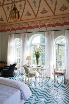 Word of Mouth: Casa de Coppola/Palazzo Margherita, in Bernalda, Italy — the birthplace of Francis Ford Coppola's grandfather — is the grand 19th Century home that Francis, Sofia and family have been restoring (with the help of Jacques Grange) since 2005.  Its nine rooms are individually designed by Grange, featuring local craftsmanship, original marble pieces, art-like tiling and high ceilings.