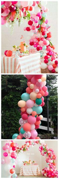 Balloon Arch Tutorial So cute for a bridal shower