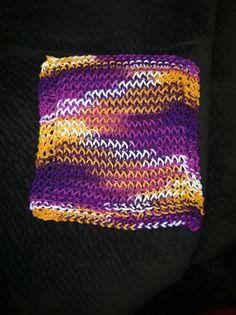 Dishcloth - loom knitting