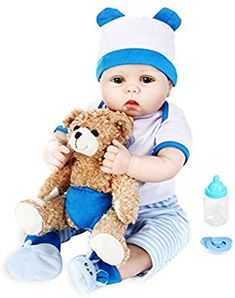 Reborn Doll Blue Gown with Matching Hat for 22 Inch Doll