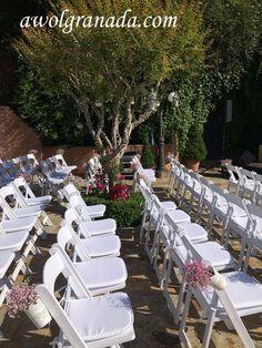 Carmen de los Chapiteles - AWOL Granada - A Wedding of a Lifetime - Granada, Spain Wedding Set Up, Wedding Ceremony, Wedding Venues, Reception, Granada Spain, Wedding Decorations, Table Decorations, Rustic Chic, Beautiful Gardens