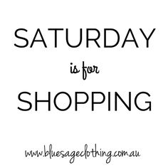 When Saturday is for shopping 💙