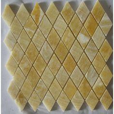Honey Onyx Diamond Pattern Mosaic Tiles (Set of 5)