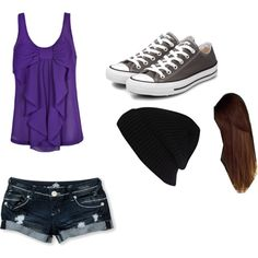 Cute Outfit for School. Cute wouldn't be able to wear the hat in school tho, sadly.