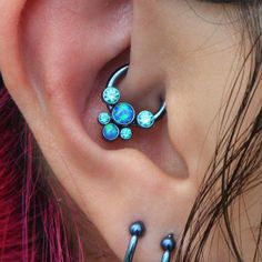 Gorgeous multi jeweled Anatometal for this Daith piercing. Instagram photo by @joeltrondotcom (Joeltron) | Statigram