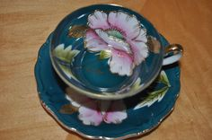 Saji (Made in Japan) Hand Painted Fancy China Tea Cup & Saucer