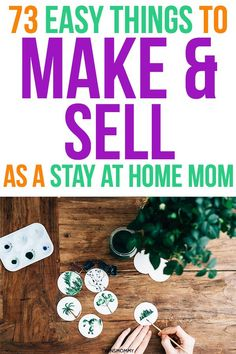 Want to work from home as a stay at home mom? Learn how to start a craft business and make 73 easy things to make and sell. Yes, you can work from home and sell things and make money online! Hobbies To Try, Hobbies For Women, Hobbies That Make Money, Make Money From Home, Way To Make Money, Make Money Online, How To Make, Sell Things Online, Making Things To Sell
