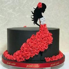 """Páči sa mi to: 2,053, komentáre: 3 – #No.1 Nigerian Cake Blog (@cakebakeoffng) na Instagrame: """"Love .. Cake Design via @pinkk_cake ❤️❤️#Cakebakeoffng #CboCakes #InstaLove #LikeforLike…"""""""